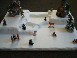 Christmas Village Display Platform C13 For Lemax Dept 56 Dickens + More