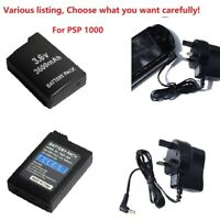 Battery for Sony PSP-110 PSP1000 1001 or UK AC Adapter Wall Charger Power Supply