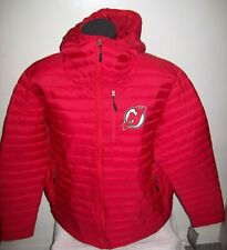 NEW JERSEY DEVILS Hooded Puffer Nylon Jacket  RED 2X