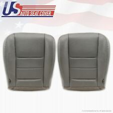 2002 - 2007 Ford F-350 Lariat Driver & Passenger Bottom Leather Seat Cover Gray