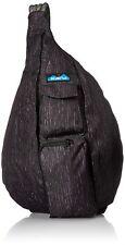 KAVU Rope Sling Bag Crossbody Travel Hiking Backpack Polyester - Black Oak