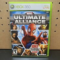 Marvel Ultimate Alliance (XBOX 360) Video Game - W/ Manual - Tested - Free Ship