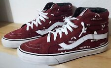 SUPREME x PLAYBOY x VANS Sk8-Hi Re-Issue Burgundy Pro Collection Size 9 LIMITED