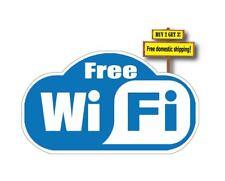 FREE WIFI Sticker/decal, Internet Cafe Alert customers 3.4x6 Restaurant