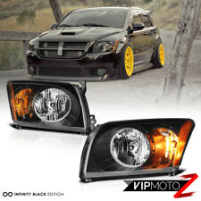 "For 07-12 Dodge Caliber ""SRT STYLE"" Black Front Headlights Assembly LEFT+RIGHT"