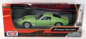 Motor Max 1/24 Scale Diecast 73368 - Lamborghini Miura P400 S - Green