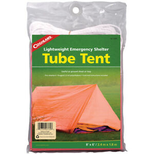 Coghlan's Lightweight Emergency Shelter Tube Tent, 2 Person, Ground Sheet/Tarp