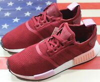 Adidas Originals NMD R1 Boost womens Running Training Shoe Burgundy/White B37646