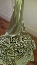"3M  OLIVE GREEN  DRESS  SATIN FABRIC..58/""  WIDE"
