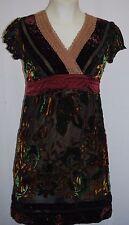 HALE BOB Velvet Burnout Beaded Dress Sz XS