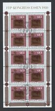 Scott B581 / Michel 1065: Germany 1980 FIP Congress in Essen, Sheet of 10 VF-CDS