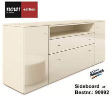Hülsta Now Edition Sideboard 4R ohne Kufen 90992 Hochglanz / Lack - weiss NEU