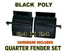 BLACK POLY Quarter Fender Set (24x24)  Freightliner, Kenworth, Peterbilt