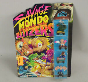 NOS Vintage 1991 Kenner Savage Mondo Blitzers Chunk Blowers 4-Pack New MOC