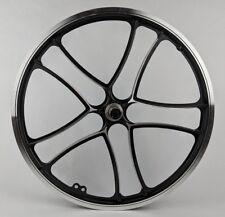 "20"" Front Mag Aluminum Alloy Wheel Old School Black Trike Bike BMX Bicycle"