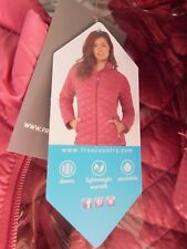 Womens Country Faded Rose Packable Down Quilted Jacket Coat L Large