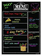 Magnetic Refrigerator Chalkboard Dry Erase Weekly Menu Meal Planner Organizer