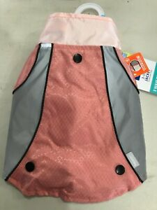 Top Paw 3-in-1 Jacket Lt Rose Pink Reflector Fabric Small Pet Jacket