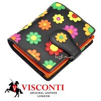 Women's Purse Wallet Soft Leather Quality Visconti Daisy New in Gift Box DS80