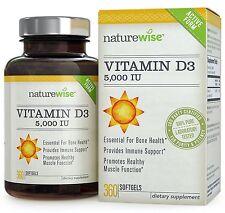 NatureWise Vitamin D3 5,000 IU in Organic Olive Oil, Non-GMO, USP Grade, 360