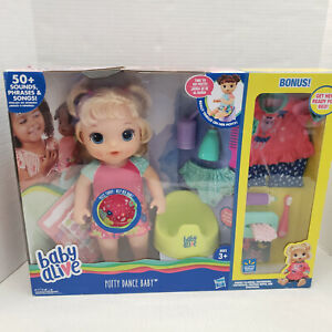 New Baby Alive Potty Dance Interactive Doll Reward BONUS Toothbrush Paste Outfit