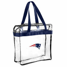 New England Patriots CLEAR Messenger Tote Bag Purse - Meets Stadium Security Req