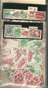 "Peru: Lot of 500 stamps accumulation used ""As Is"" PE06/"