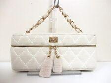 Authentic CHANEL Ivory Wild Stitch Cotton Make-Up Bag