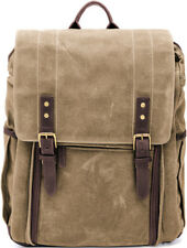 "Ona Camps Bay Camera and 17"" Laptop Backpack, Field Tan, Canvas and Leather"