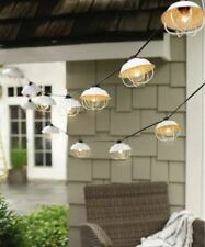Party Lights by Threshold 10 ct String Lights White Cage Indoor Outdoor Corded