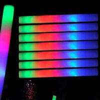 100/200 PCS Flashing Glow Foam Sticks Light Up LED Wands Batons DJ,Free US Ship