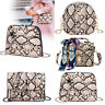 Snake Print Shoulder Bag Women Messenger Handbag PU Leather Crossbody Purse Tote