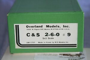 Overland Models C&S 2-6-0 #9 in Sn3 scale