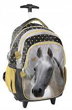 LOVE HORSES Cavallo Cuore Oro Zaino Trolley Scuola, Elementare Media Ragazza