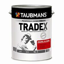Taubmans Tradex 10L White Gloss Enamel Oil Based Paint