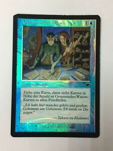 Accumulated Knowledge FOIL German MTG Nemesis VG- cond