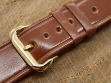 "Vintage NOS Channel Groove Shell Cordovan Brown 16mm 5/8"" Heilbrun watch band"