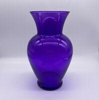 Hand Blown Deep Purple Glass Vase