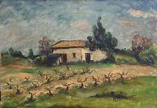 Tableau Peinture 20ème XXème M.Barnier Ecole provençale Paysage Réalisme rare