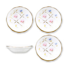 Gold Cross Soup Bowl Set for Four Reutter Porcelain 1:12 Scale Made in Germany