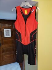 Sparks Mens Xl red sleeveless Trisuit