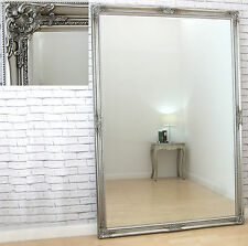 4ccb839f58cd Bristol Extra Large Vintage Full Length Wall Leaner Mirror Antique Silver  72x48