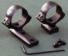 Remington HOWA rifle scope mounts, 30mm rings and bases, STEEL MATTE finish.