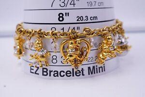 Winnie The Pooh & Friends Swarovski Crystal Charm Bracelet Disney