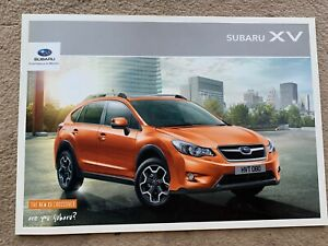 2012 Subaru XV Car Brochure (UK)
