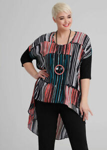 ts Taking Shape Top Size 18 Drifter High Low style NWT