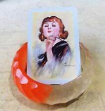 Orange & Clear Resin Bangle- 6.5cm Internal Diameter
