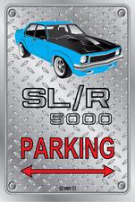 Parking Sign - Metal - Holden Torana SLR 5000 LIGHT BLUE - ORIGINAL RIMS