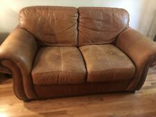 Camel Leather Couch And Loveseat