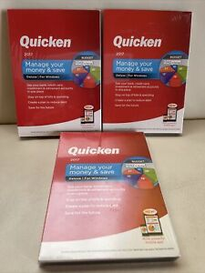 Quicken Deluxe 2017 For Windows manage your money & save NEW SEALED